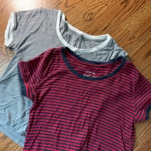 """Set of TWO """"baby"""" tees"""